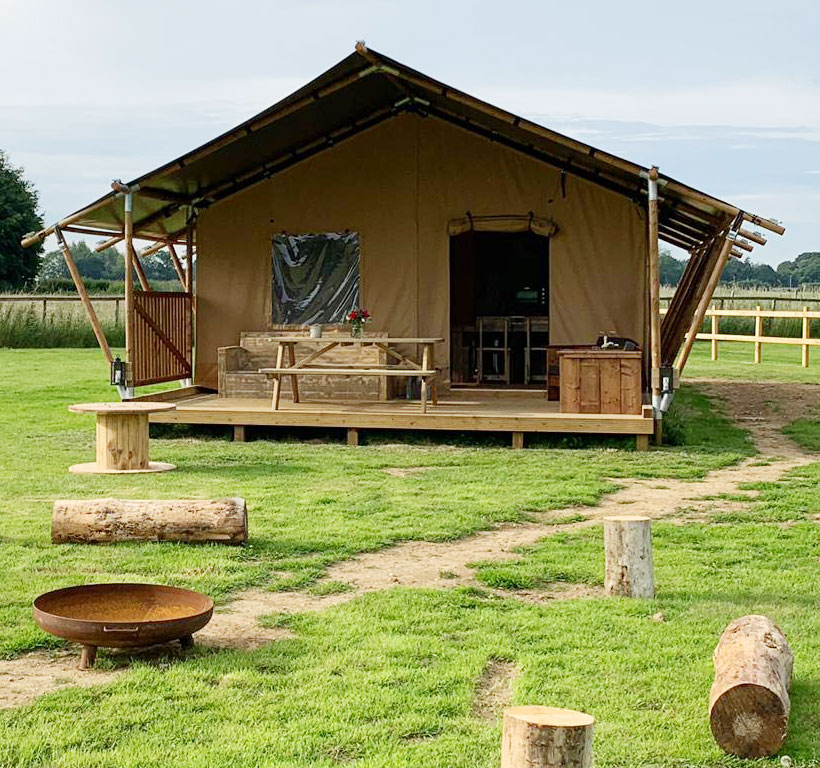 Glamping Safari Tent Norfolk